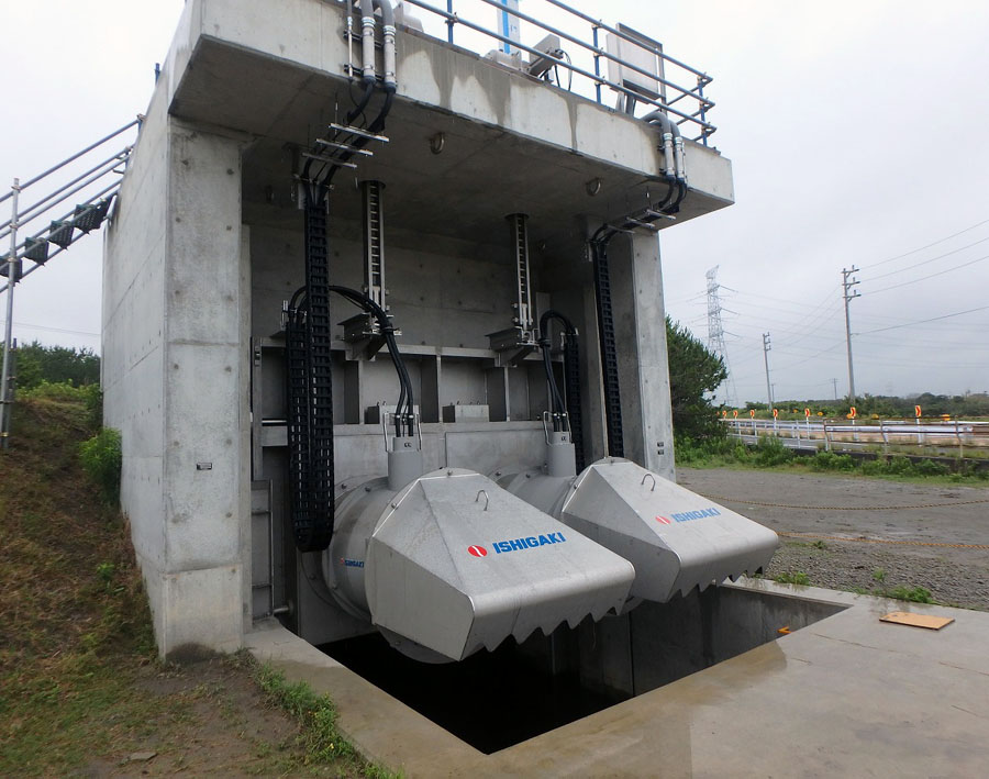 """Installation Reference : The most advanced pump gate """"FLOOD BUSTER"""""""