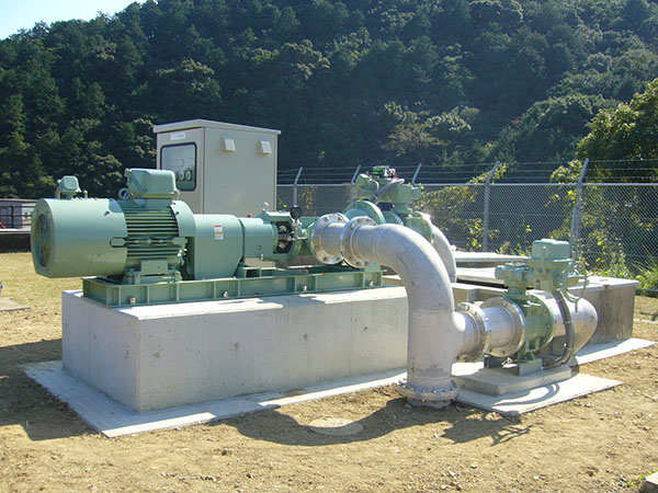 小水力発電用 インライン型水車(管路内設置形) ITG-Eの納入事例