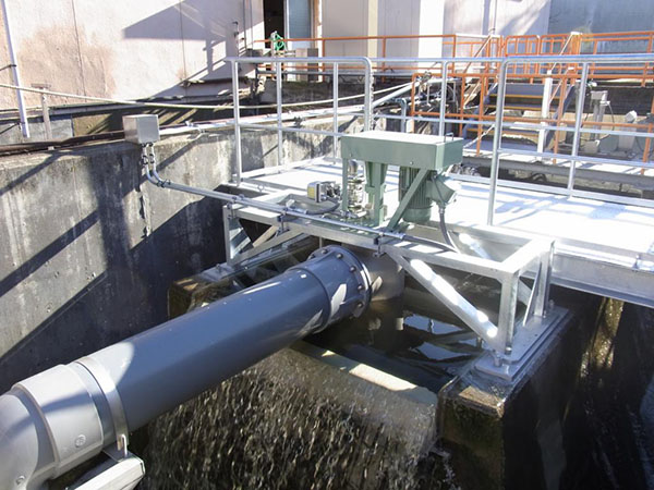 サイホン式立軸水車 IPOA-Gの納入事例