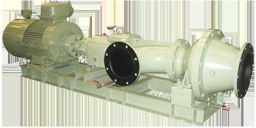 小水力発電用 インライン型水車(管路内設置形) ITG-E