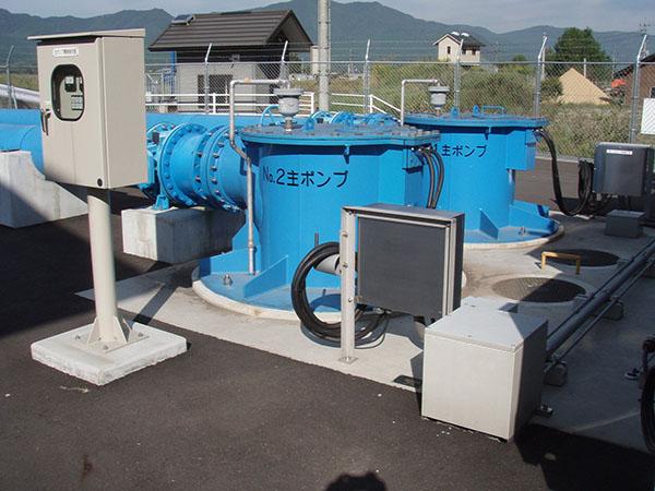 水中ポンプ(コラム形)IPUD(斜流)の納入事例